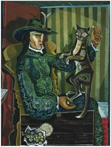 Figure With Cat c.1959