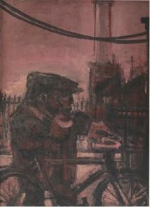 Shelton Bar Steelworker with Bike (1960)