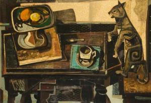 Cat and Table - John Shelton (1960)
